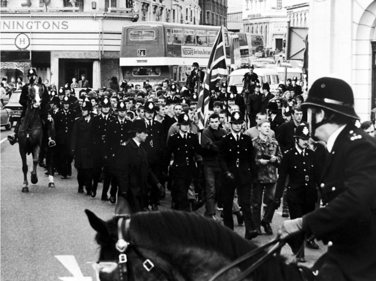 © The Argus The National Front March Through Castle Square, Brighton 1981